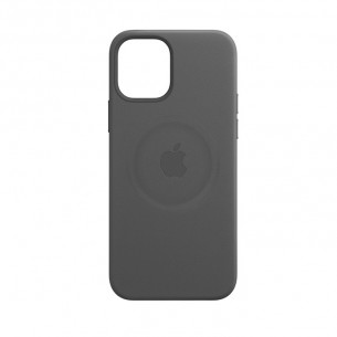 Apple Leather Case with MagSafe for iPhone 12 Pro Max - Black