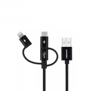 Momax One Link 3-in-1 Fast Charge Sync USB Cable 1M