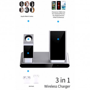 Wiwu Power Air Fast 3 in 1 Wireless Charging Station