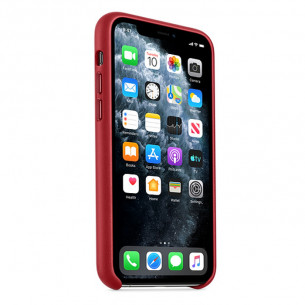 Leather Case for iPhone 11 Pro Max Red
